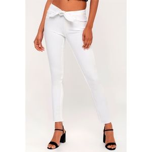 PAIGE Hoxton High Rise Ankle Peg Tie Skinny Jeans